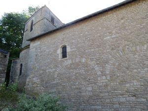 Church Saint-Léger (Brickwork with rubble from Alesia)