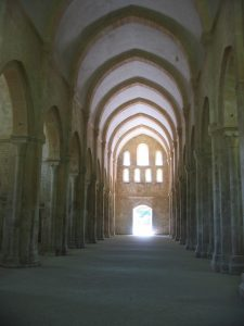 Interior of the abbey church